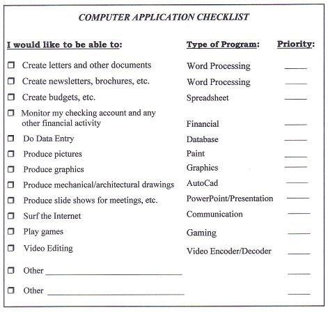 Best Computer Checklist