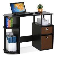 Space saving computer desk